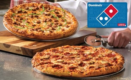 Domino's Pizza $20 eGift card for $10 - Groupon
