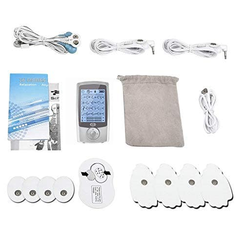 CUH 3rd Gen 16 Mode Rechargeable TENS Unit Muscle Stimulator with Travel Case + 20 Replacement Pads $38.3