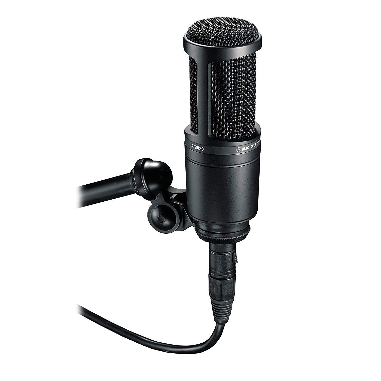 Audio-Technica AT2020 Cardioid Condenser Studio XLR Microphone, Black [Microphone] $79.99