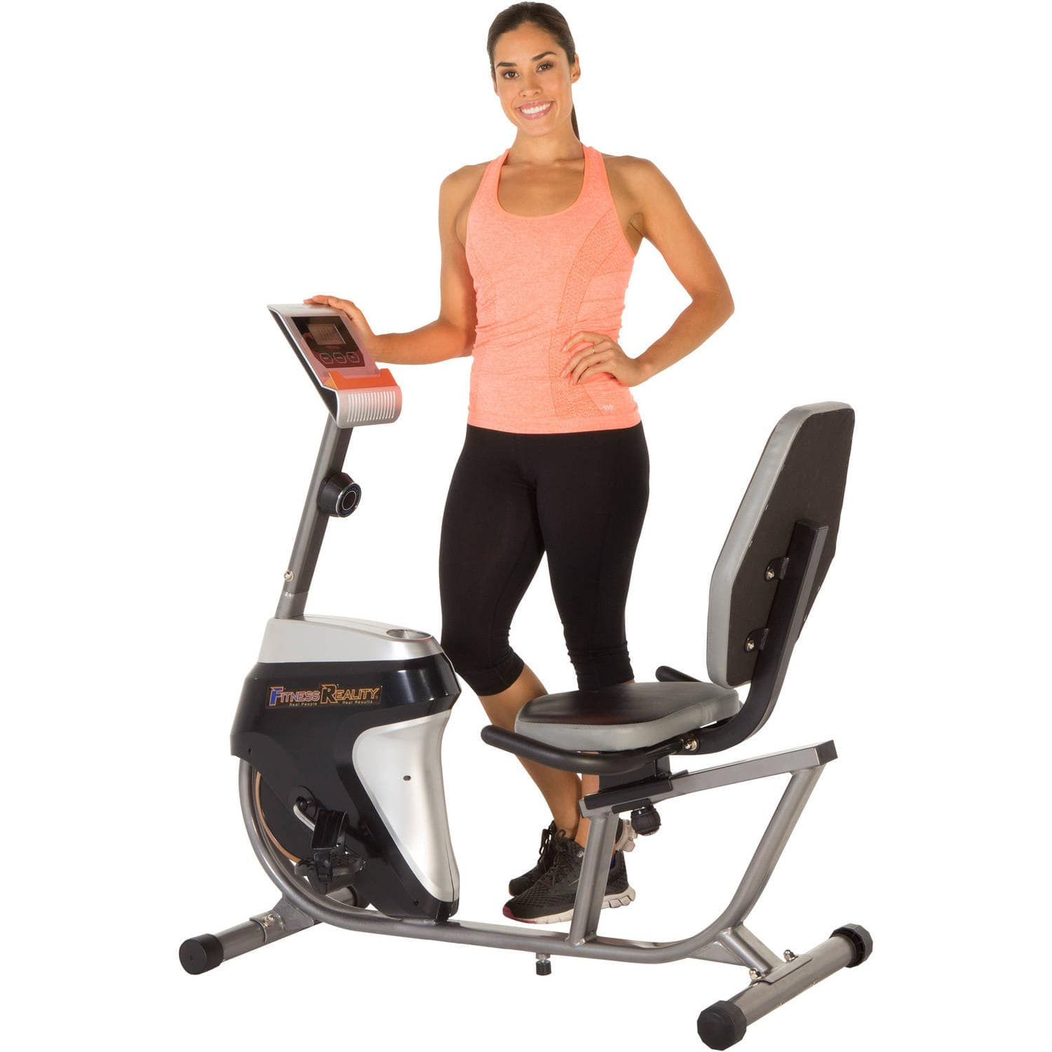 Fitness-Reality-R4000-Recumbent-Exercise-Bike-with-Workout-Goal-Setting-Computer $125 + FS