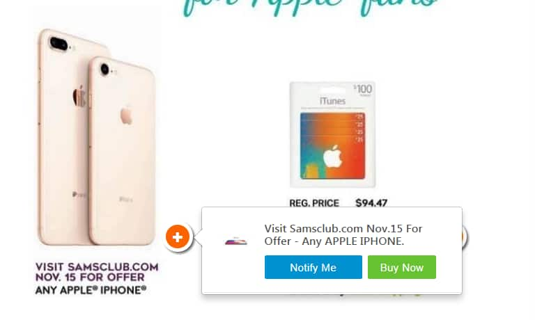 Samsclub Mystery Apple Iphone offer on November 15th - Fixed incorrect links/Article