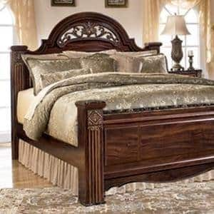 New Ashley Furniture Signature Design Huey Vineyard Vintage Casual Sleigh Bedset Full Size Bed