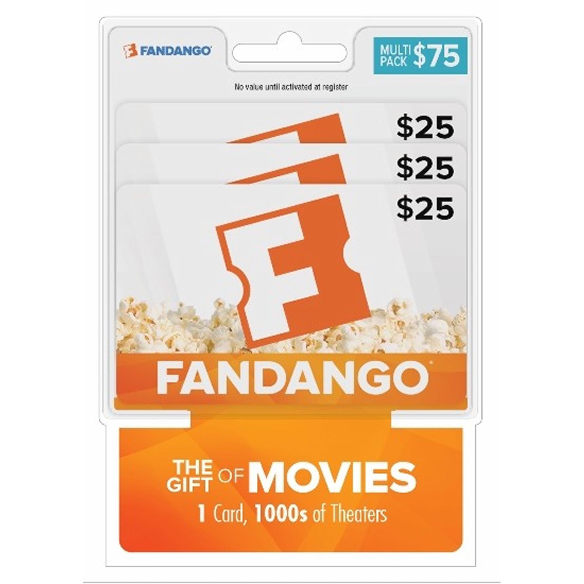 Fandango $75 Gift Card for $57 @ BJs - Free shipping