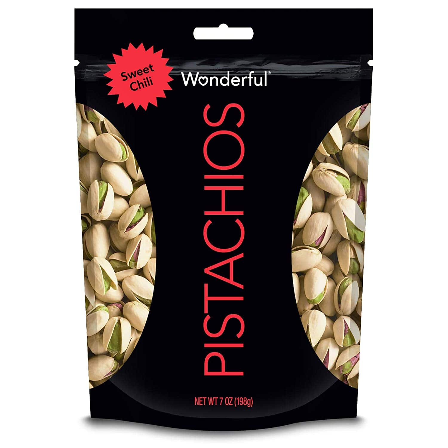 Wonderful Pistachios, Sweet Chili Flavored, 7 Ounce Resealable Pouch - $4.24