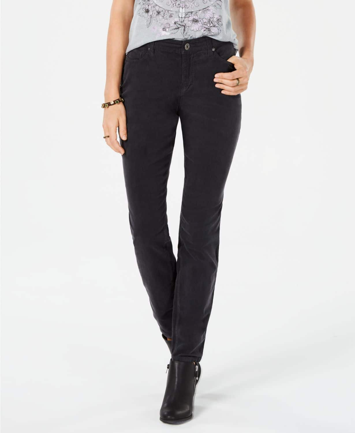 Style & Co Curvy Corduroy Skinny Jeans (3 Colors) $9.86