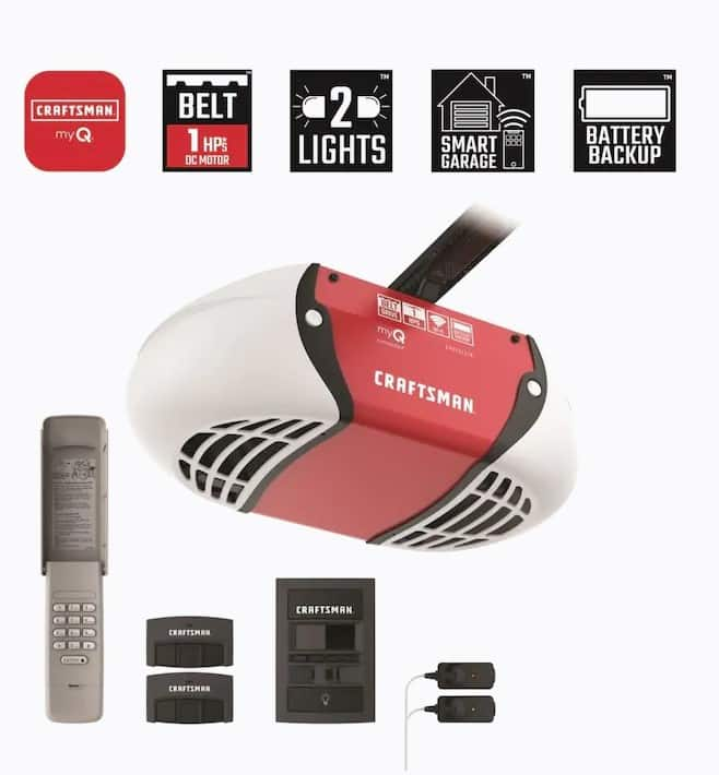 YMMV, LOWES CRAFTSMAN 1-HP my Q Smart Belt Drive Garage Door Opener with MyQ and Wi-Fi Compatibility and Battery Back-Up $108.00, in store pick up only