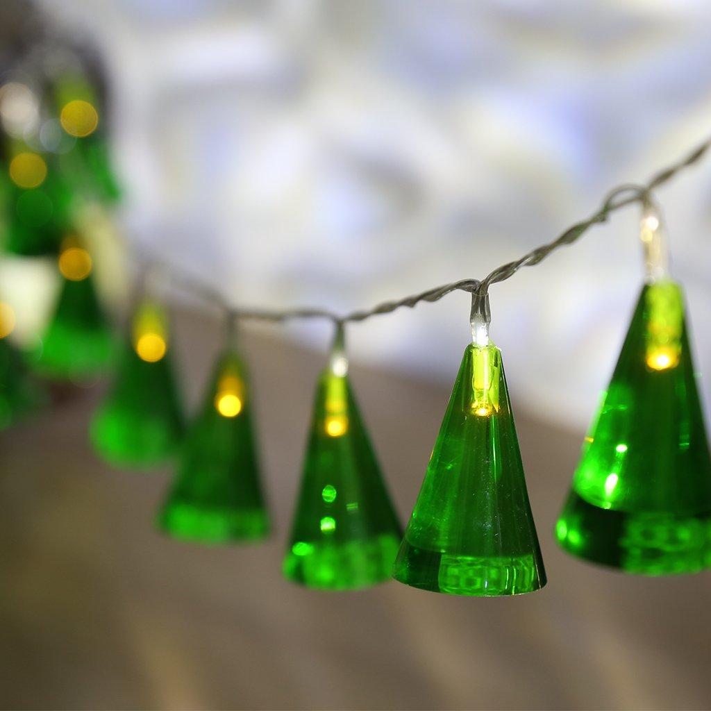 Construction Site String Lights: Multi-Color Bells String Lights Battery Powered 20 LEDs, 2