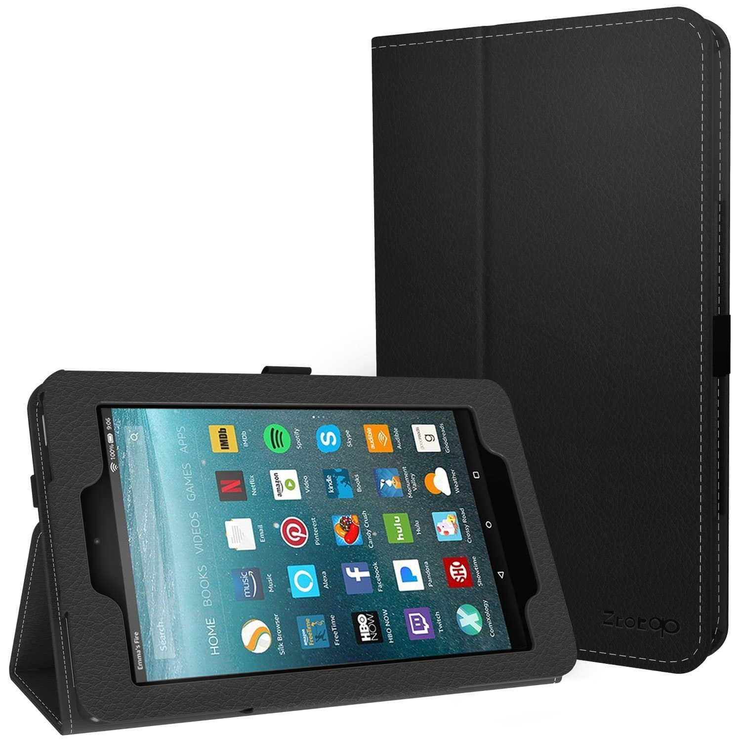 Folio Case w/ Slim Folding Stand for Amazon Fire 7 & 8 Tablet for $4.49+