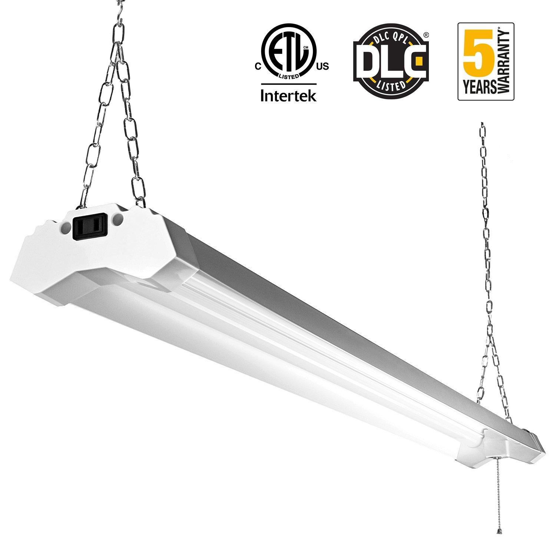 LED Utility Shop Light 4ft 4800 Lumens Super Bright 40W 5000K Daylight for $37 AC