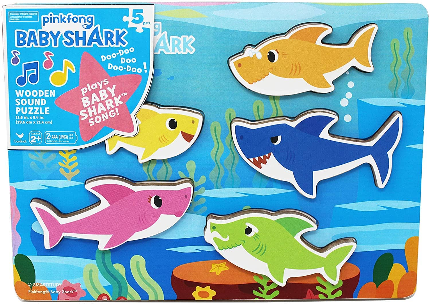 Baby Shark Chunky Wooden Sound Puzzle for $5.40 FS w/ Prime or $25 min