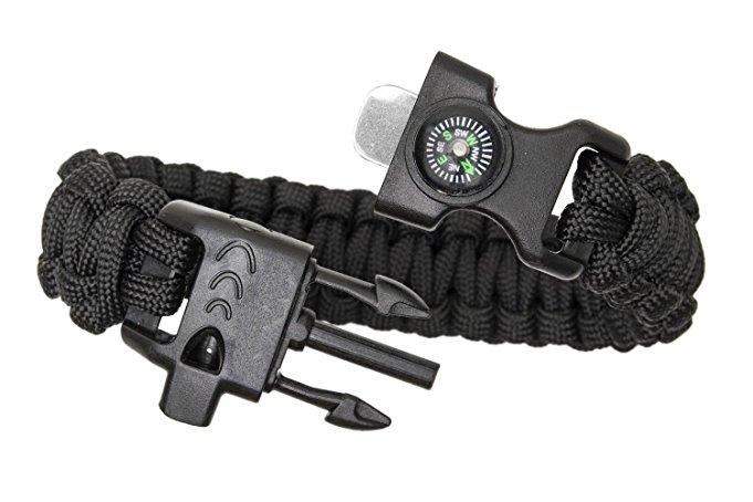 $2 AC Paracord bracelet w/ compass, whistle, fire starter @ Amazon $1.90