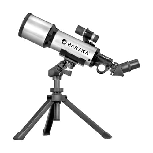 Barska 300 Power 400x70mm Refractor Starwatcher Telescope with Tabletop Tripod and Carrying Case $39.99