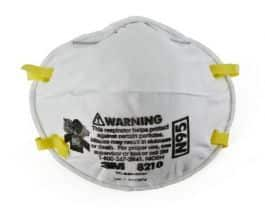 Particulate Respirator Mask 3M 8210 N95 Cup Elastic Strap One Size Fits Most White, 20 per Box, FS on $49 order $18.95