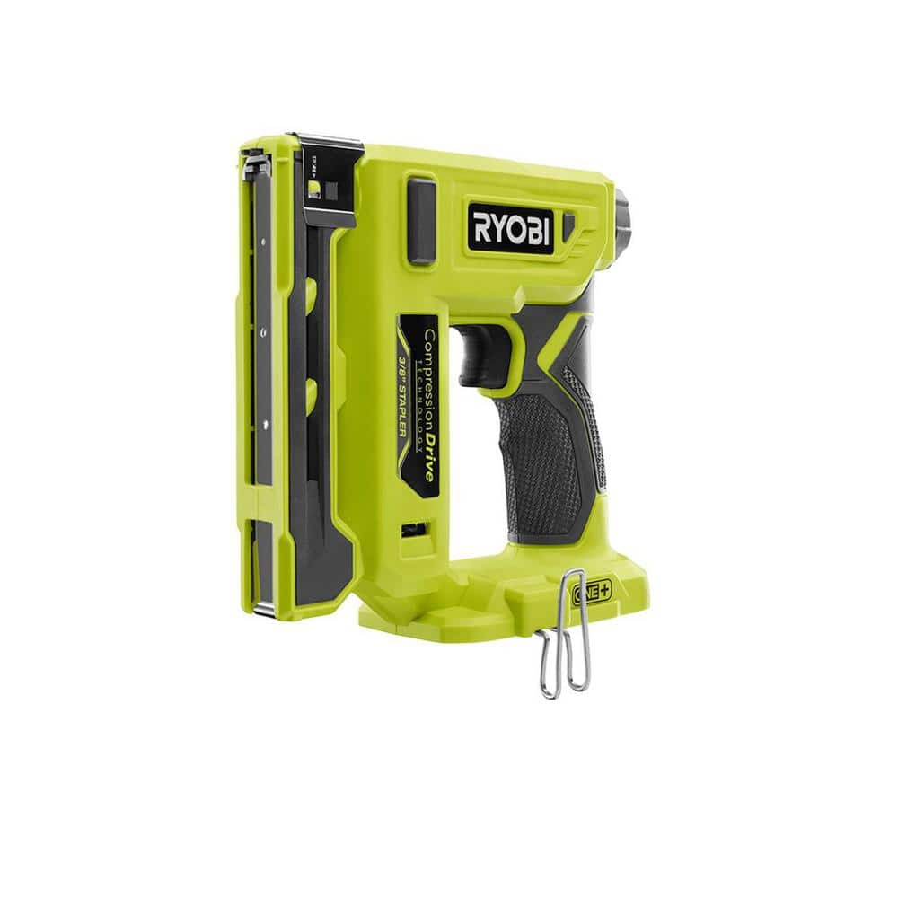 """YMMV $43.95 RYOBI 18-Volt ONE+ Cordless Compression Drive 3/8 in. Crown Stapler T50 """"T 50 Arrow"""" P317 Home Depot"""