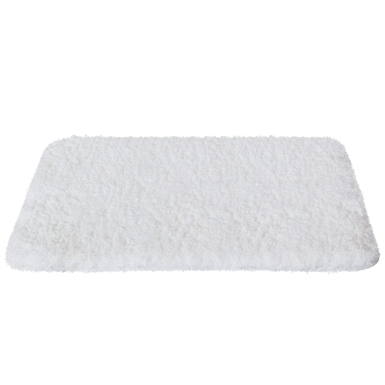 Soft Shaggy Bath Mat - Non-slip, White $15.99
