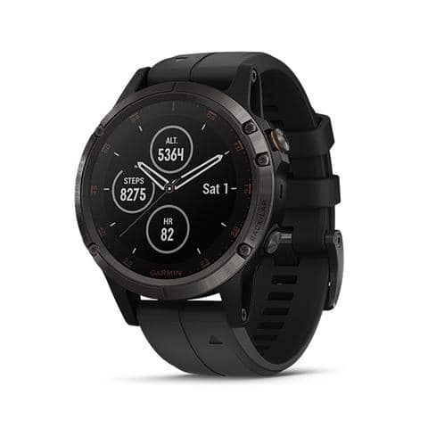 Garmin Fenix 5 Plus Sapphire Diamond-Like Carbon Titanium Edition Multisport GPS Watch