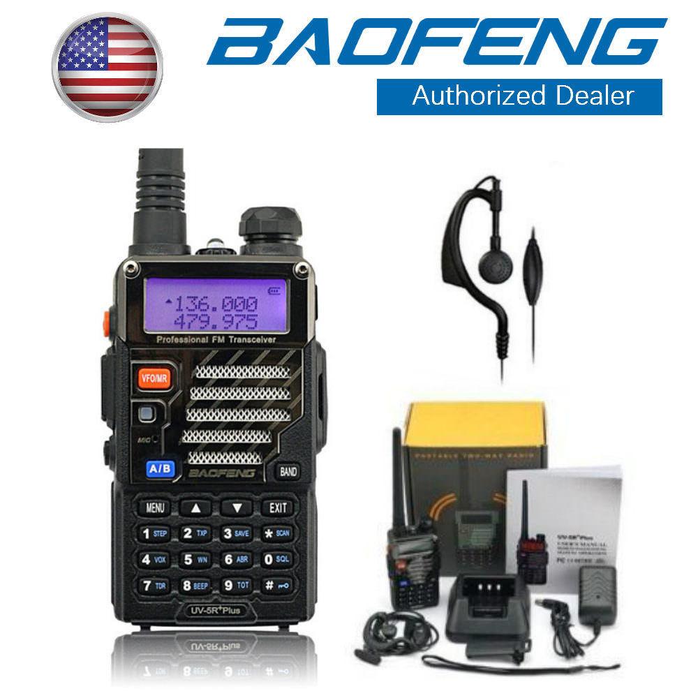 Baofeng UV-5R Plus VHF UHF Dual Band A/B TOT VOX FM Transceiver Two way Radio US $23.99