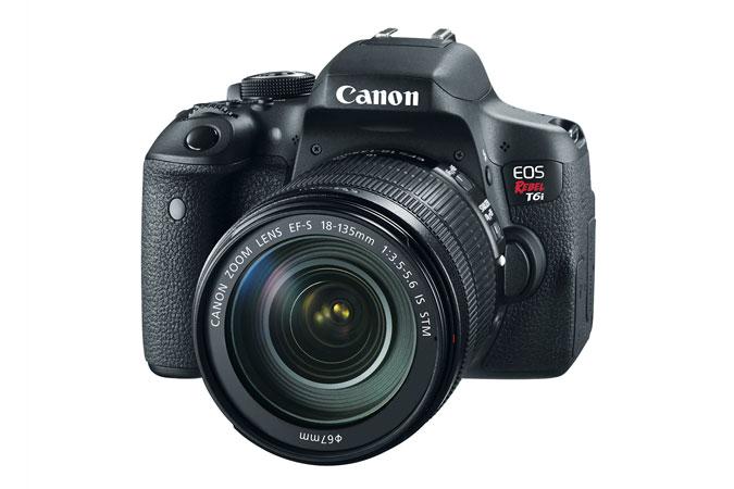 Canon EOS Rebel T6i Digital SLR Camera  EF-S 18-135mm IS STM Lens Kit [Refurbished] $729.20 + Battery Grip and Battery