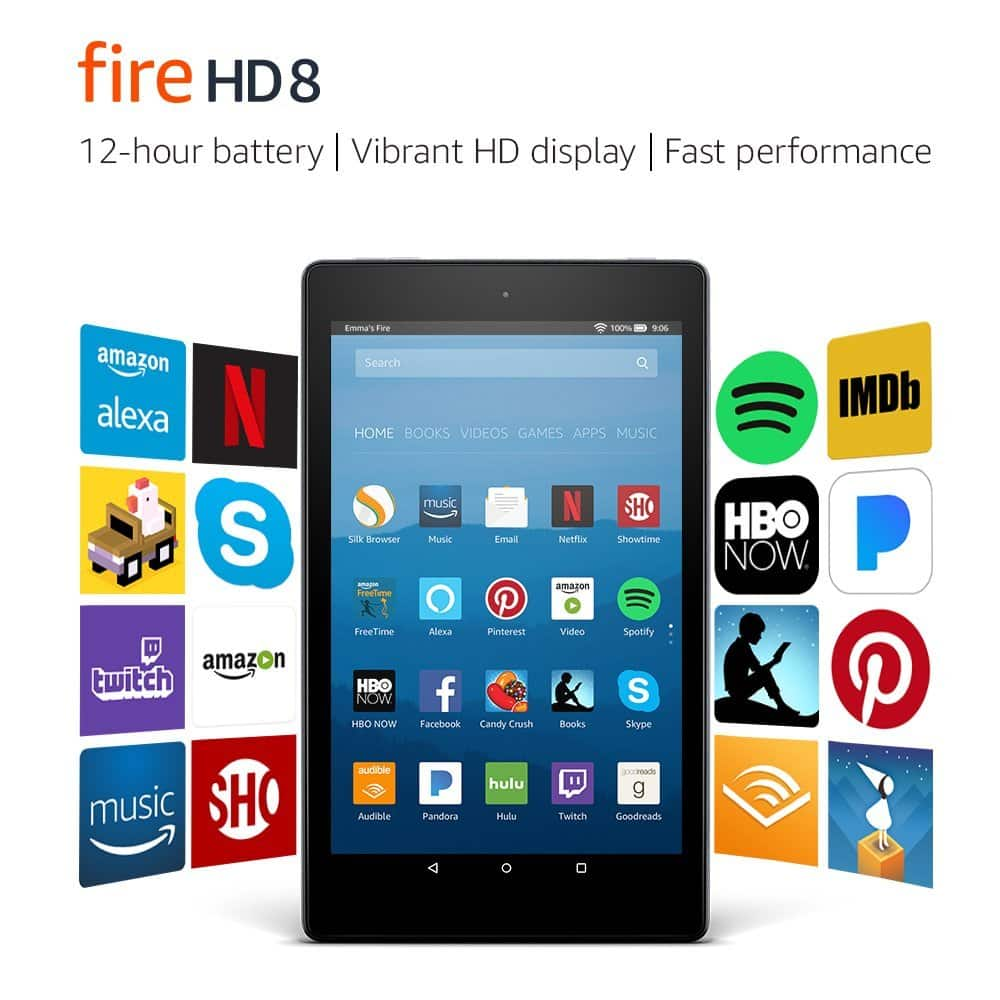 Fire HD 8 Tablet, 16 GB - $49.99 (Back to Black Friday price)