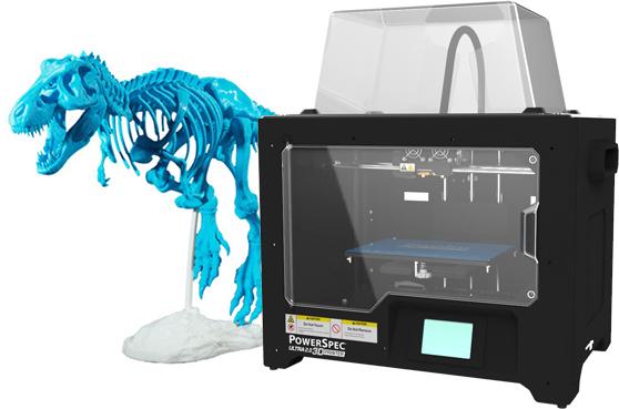 PowerSpec Ultra 2.0 Dual Extruder 3D Printer $599.99