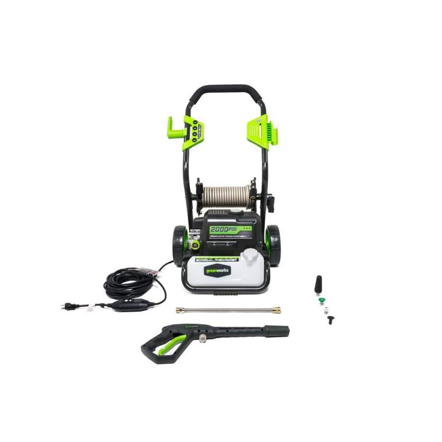 Greenworks 2000-PSI 1.2-Gallon-GPM Cold Water Electric Pressure Washer $129 @ Lowe's Item 623638