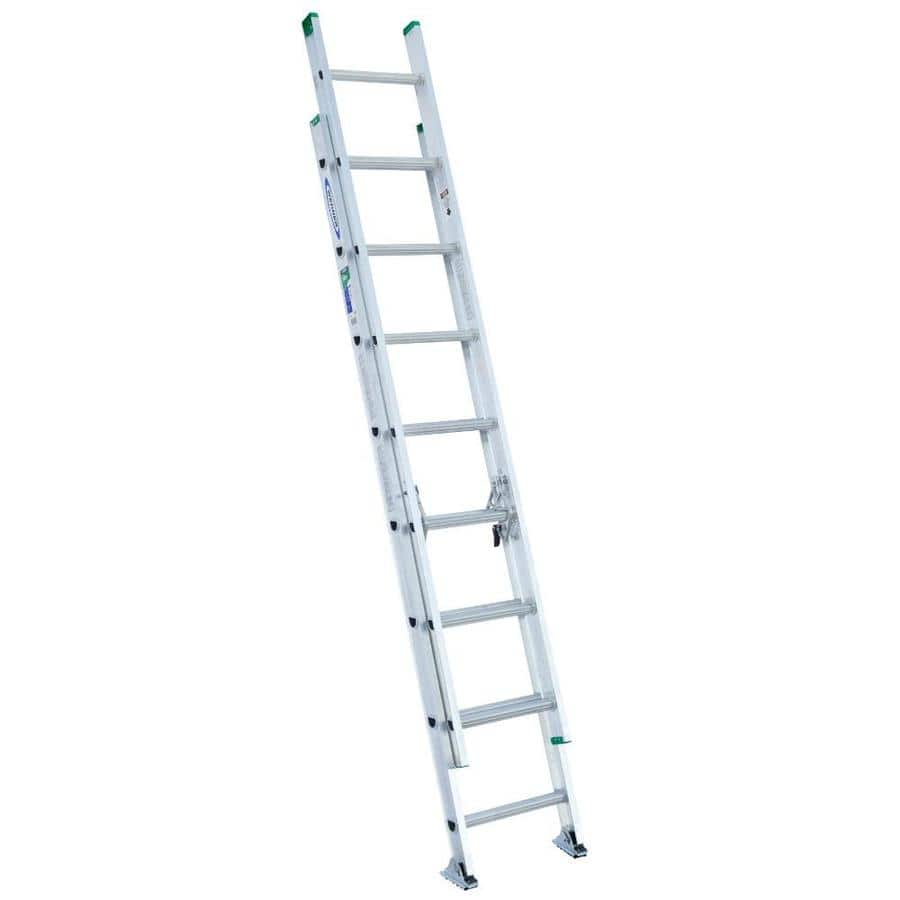 Werner 16 Ft Aluminum Type 2 225 Lbs Extension Ladder