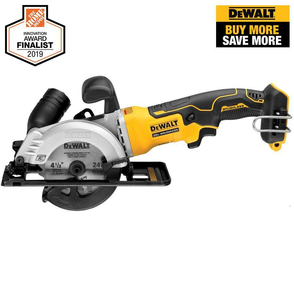 DEWALT ATOMIC 20-Volt MAX Cordless Brushless 4-1/2 in. Circular Saw (Tool-Only) Free Shipping and Handling $99