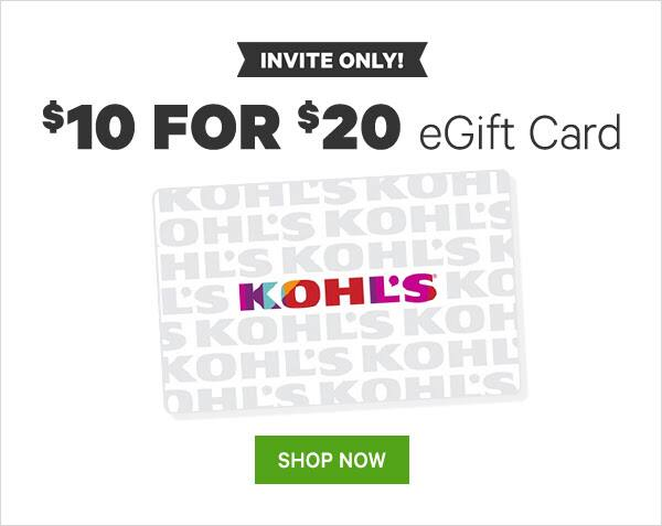 Select Members: Groupon Kohl's $20 eGift Card $10 (YMMV)