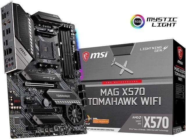 MSI MAG X570 TOMAHAWK WIFI AM4 ATX AMD Motherboard - $219.99