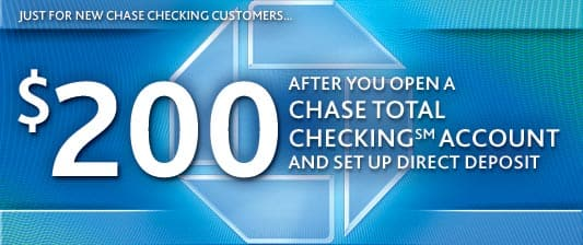 Chase $200 coupon for new Checking account!! offer ends August 15, 2013