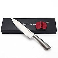 Master Racoon 8 Inch Stainless Steel Chef's Knife with Sharpener $  9.90 At Amazon