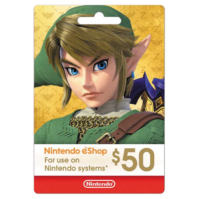 $44.99 Nintendo eShop $50 Digital Card (Online)