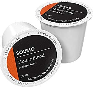 Amazon Brand - 100 Ct. Solimo Medium Roast Coffee Pods, House Blend, Compatible with 2.0 K-Cup Brewers $23.65