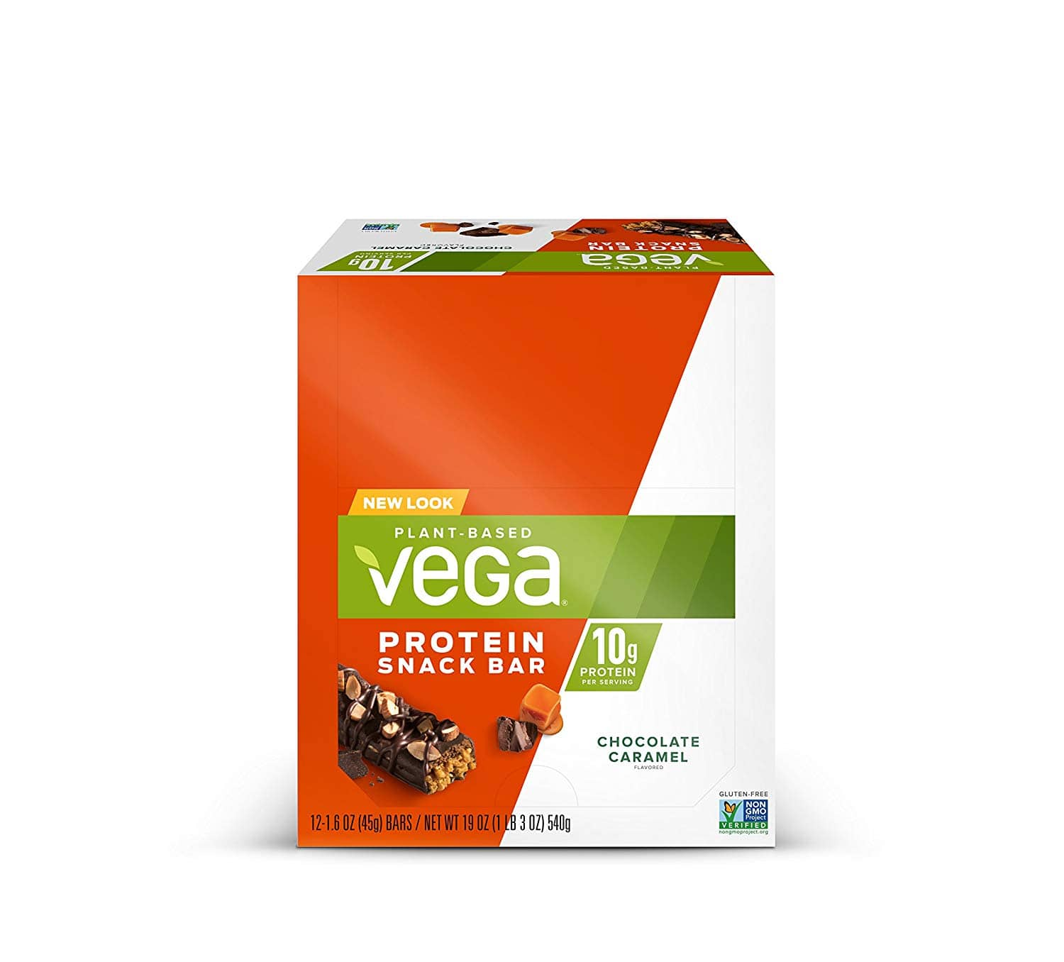 12-Ct. Vega Protein Snack Bar Chocolate Caramel or Blueberry Oat, Plant Based Vegan Protein Bars for $13.13 with Coupon and S&S