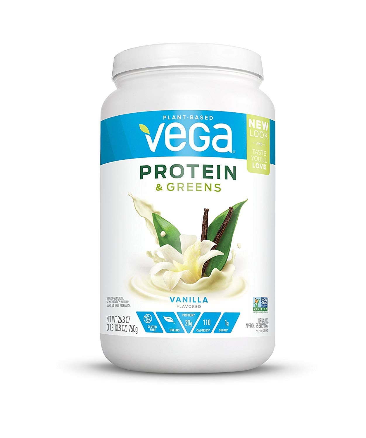 Vega Protein & Greens Vanilla (25 Servings, 26.8 oz tub) - Plant Based Protein Powder for $15.59 with Coupon and S&S and more.