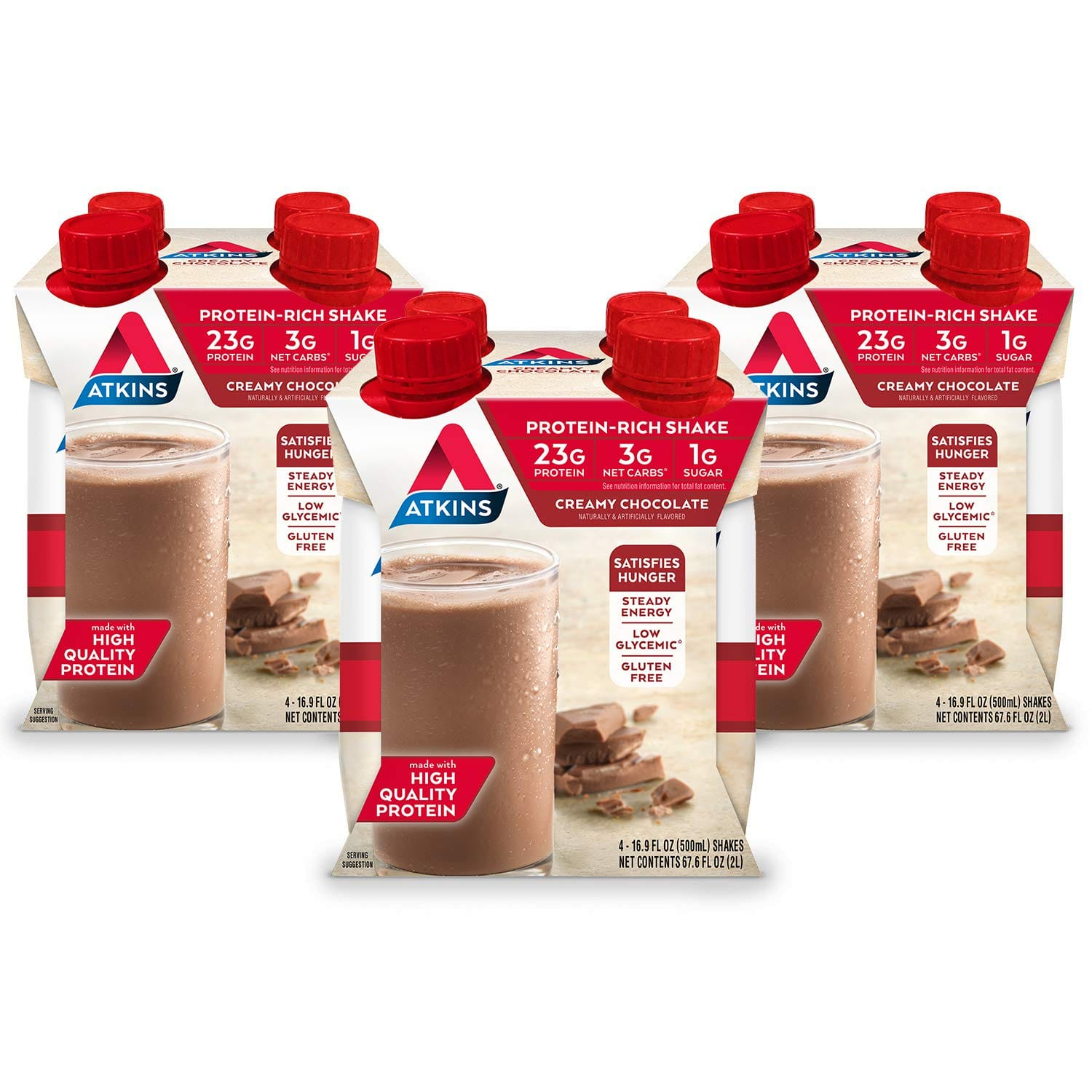12-Ct. 16.9 Oz. Atkins Meal Size Protein-Rich Shake, Creamy Chocolate or Vanilla Cream for $19.32 with Coupon and S&S.