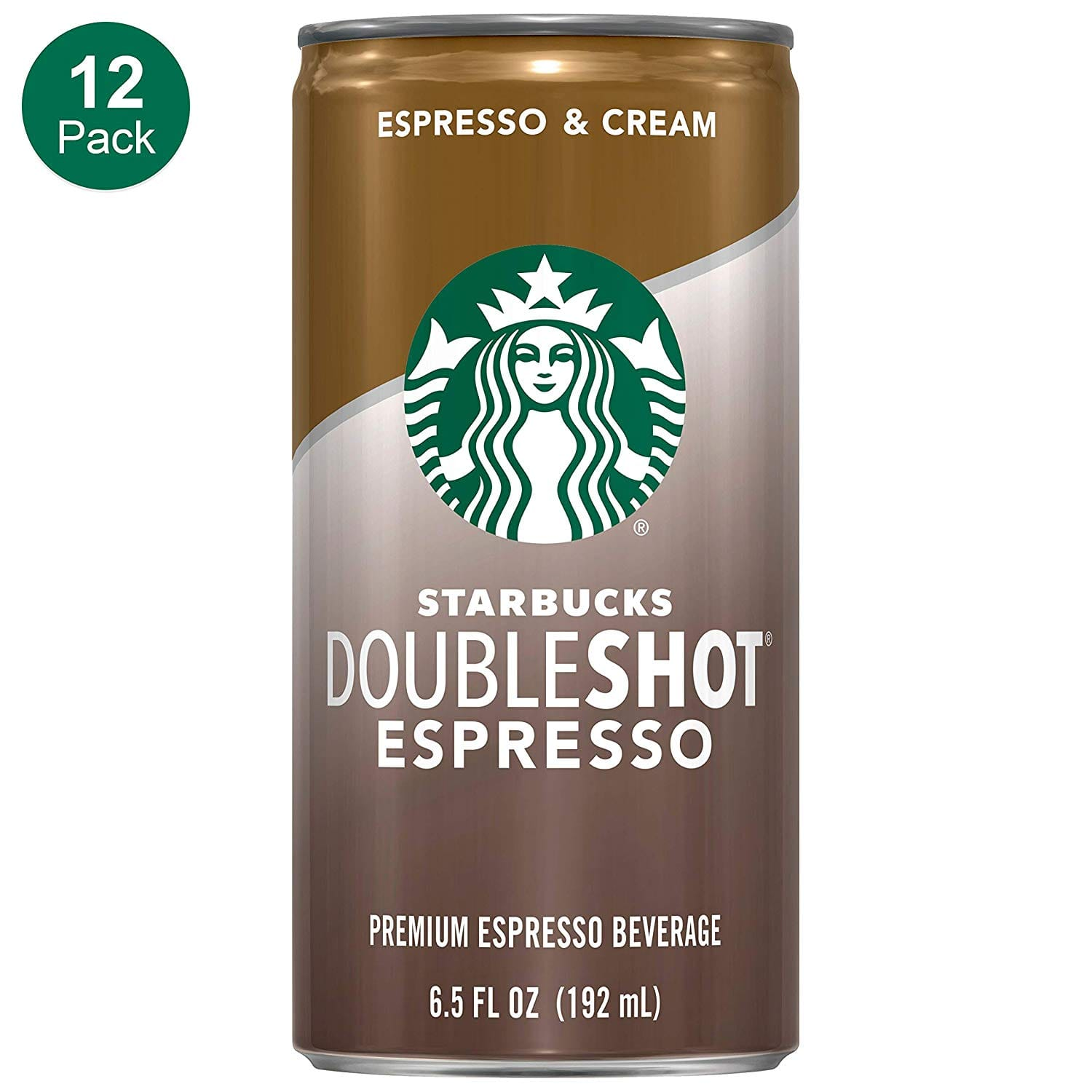 12-Pack 6.5 oz. Starbucks Doubleshot, Espresso + Cream for $12.78 with Coupon and S&S via Amazon