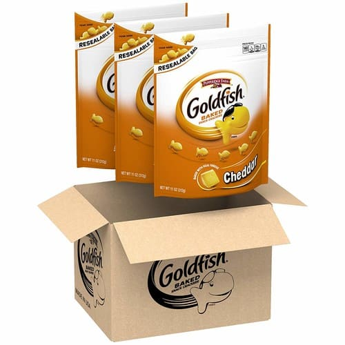 3-Pack 11 oz. Pepperidge Farm, Goldfish, Crackers (Cheddar) Resealable Bags for $8.84 with Coupon and S&S.
