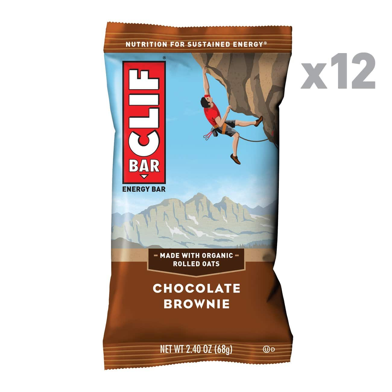 12-Count 2.4 oz. CLIF BAR - Energy Bars (Chocolate Brownie) for $8.70 with Coupon and S&S via Amazon