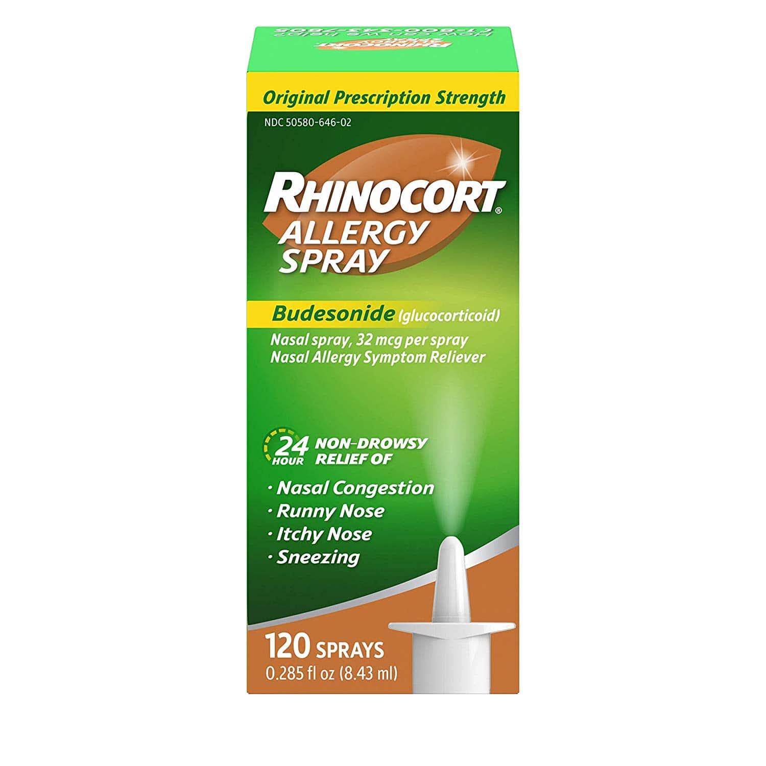 Rhinocort 24 Hour Allergy Relief Budesonide Nasal Spray for $7.04 A/C with S&S