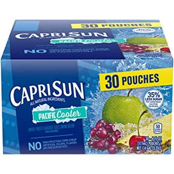 YMMV 3-Pack 30-Count Capri Sun Pacific Cooler Juice Drink Pouches for $6.18