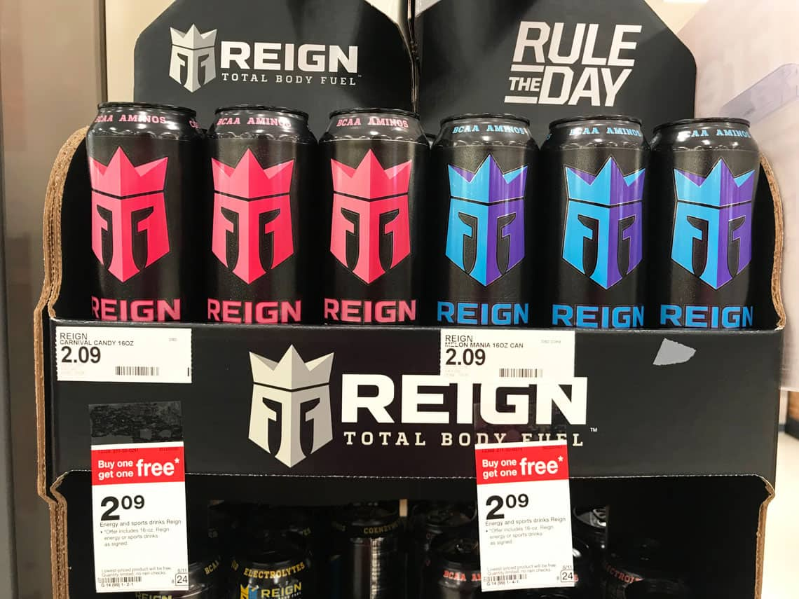 Target In-Store Offer: 16 oz  Monster's Reign Energy Drinks (Various