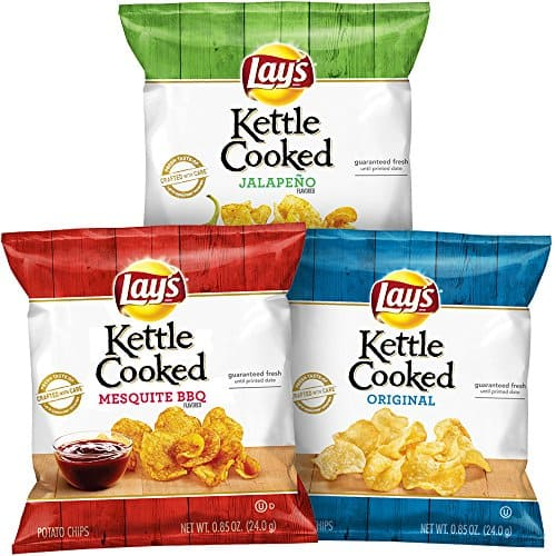 40-Count Lay's Kettle Cooked Potato Chips Variety Pack for $9.67 AC and S&S