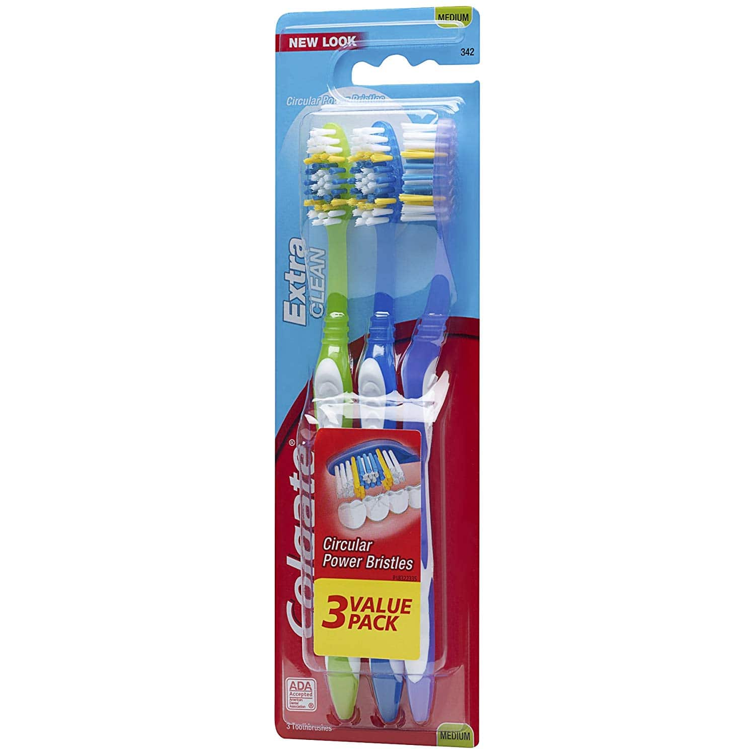 3-Pack Colgate Extra Clean Full Head Toothbrush [Medium] for $2.11 w/ S&S