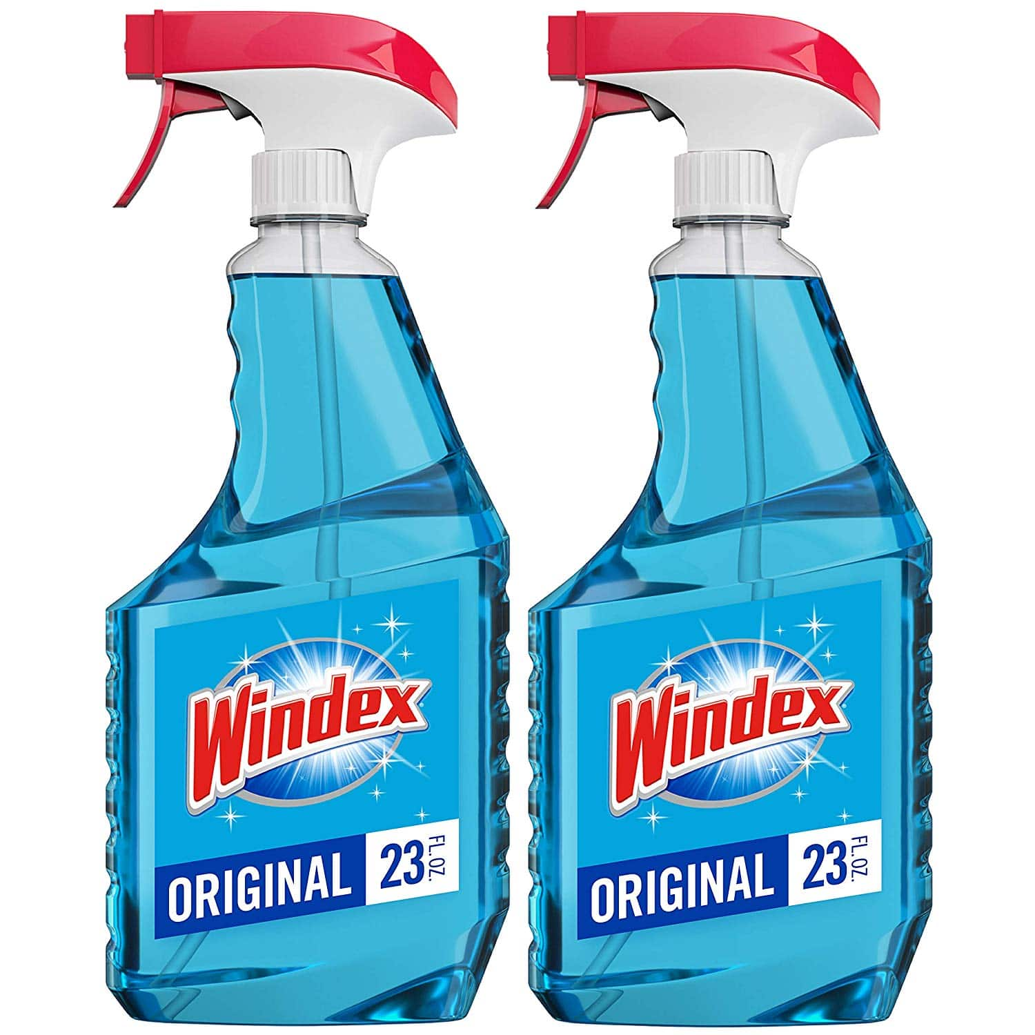 2-Pack Windex Glass Cleaner Trigger Bottle (Original Blue) 23 fl oz for $4.26 w/ S&S
