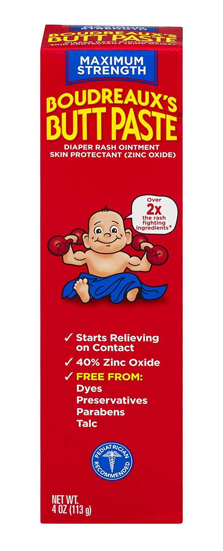 4 oz. Boudreaux's Butt Paste Diaper Rash Ointment (Maximum Strength) for $5.49 AC w/ S&S