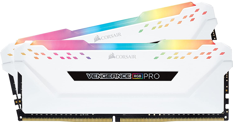 2-Pack 8GB Corsair Vengeance RGB Pro (16GB Total) DDR4 3200MHz Desktop Memory - White $92.99