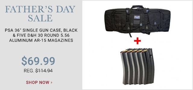 Single Gun Case and Five D&H 5.56 30 Round Aluminum Magazines $69.99 plus S&H