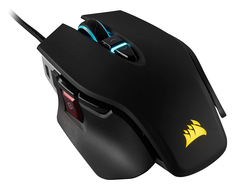 CORSAIR M65 ELITE RGB - FPS Gaming Mouse - 18,000 DPI Optical Sensor - Adjustable DPI Sniper Button - Tunable Weights - Black [18,000 DPI] $49.99