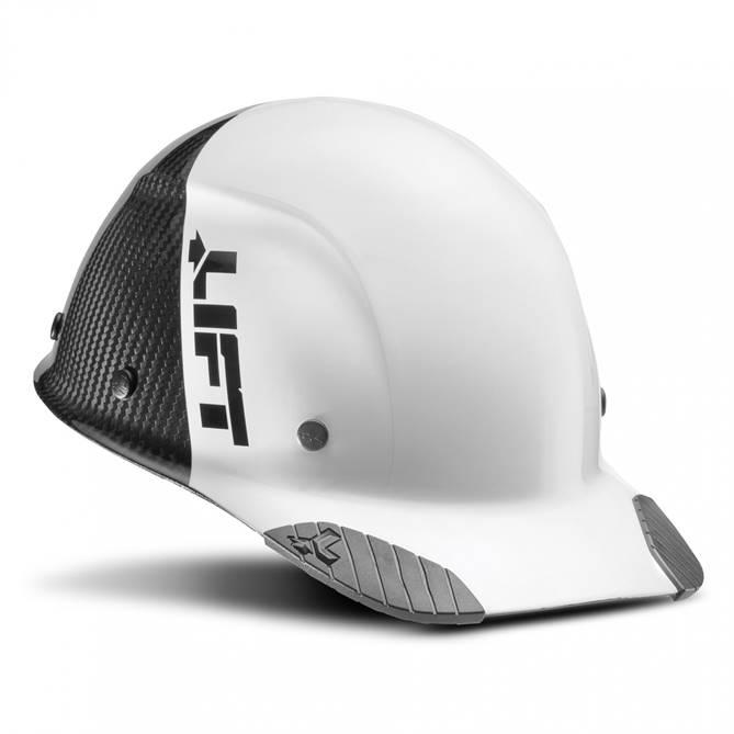 Lift Safety Dax 50/50 Carbon Fiber Cap Hard Hat White-Black $149.99